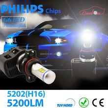 Qeedon excellent canbus led car head lamp headlight halo high low 9007