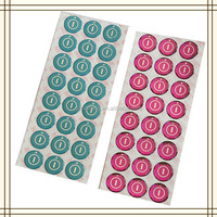 Full color printed 3D epoxy resin domed labels and designs clear crystal stickers