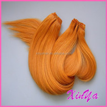 2015 New Arrival 7A Virgin Remy Indian Hair Weave orange hair extension