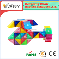 Attractive Top Educational Toys magblocks Pre-school Learning safe magnetic construction Diy Model Toy