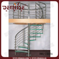 Round ladder/circular steel stair with anti-slip strip for stairs