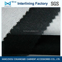 polyester fusible woven interlining knitting fabric/Woven fabric with Hot melt adhesivefor garment 20D