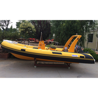 China manufacturer made new cheap small 17' RIB rigid hypalon inflatable sport fishing boats for sale with outboard engine motor
