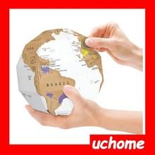 uchome zero zero globo mappa seconda generazione globo fai da te gruppo verticale mappa del mondo
