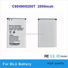 c604905200t 2000mah 3.7v li-ion lithium gb/t18287-2000 mobile phone rechargeable battery for blu Studio5.0/D530 battery