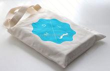 Eco-Friendly square bottom cotton shopping bag