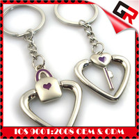 3D embossed gold silver copper fashion custom blank metal key chains