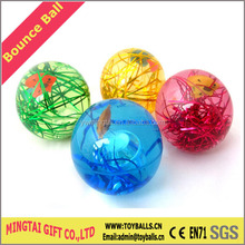 Water Bouncing Ball with Rainbow Ribbon