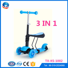 2015 New model 3 in 1 cheap kids scooter 3 wheel, three wheel scooter for sale for kids child children outdoor playing