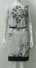 Pretty Steps guangzhou garment 2 LAYER DRESS floral dresses summer 2015 tea length plus size dresses