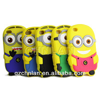 3D cartoon design Despicable Me2 silicon case for iPhone 4s back cover