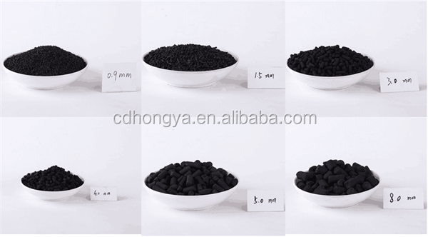 Extruded cylindrical pellets anthracite coal activated carbon with