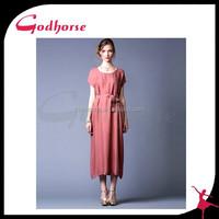 Alibaba China Elegant Silk Woven Maxi Dress