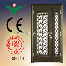 High quality new products steel wrought iron door main gate grill design