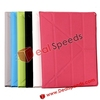 Book Style With Hexagon Pattern Stand Leather Case For New iPad