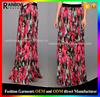 Excellent Qualityt Elastic Waist Ladi Floral Print Maxi Skirt Design