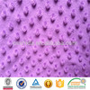 100% polyester minky dot fabric wholesale for blanket