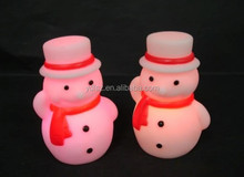 Changing color snowman flashing led doll for kids