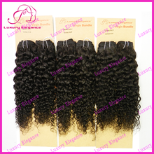 Raw Unprocessed Jerry Curl Caribbean Human Hair Brazilian Virgin Hair Weave