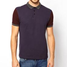 Color Block Polo Shirt Cotton T Shirt Elastane