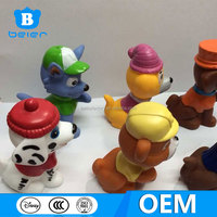 custom made 3D vinly paw patrol toys, famous cartoon character toys, action figure factory