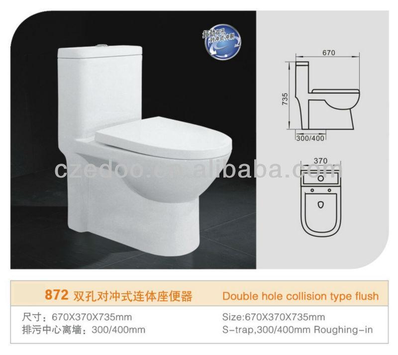 Diseno De Baños Dobles:la venta de nuevo- diseño de doble descarga wc baño de una pieza de