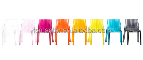 Chaise en plastique chaise froufrous options de couleur for Chaise en couleur
