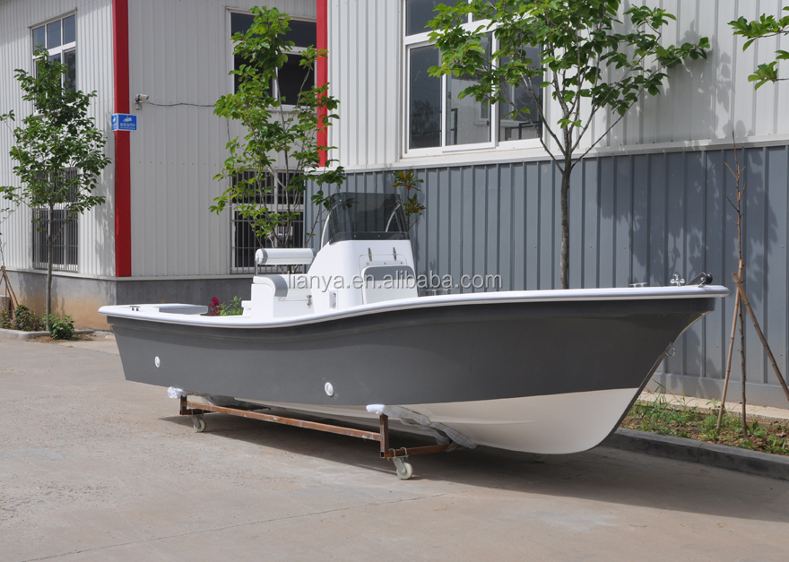 Liya14 19ft fiberglass outboard motor boats panga boat for Small used fishing boats for sale
