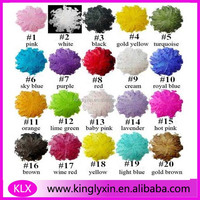 2014 NEW ! colorful curly feather pad for baby hair accessory