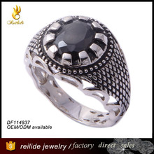 High quality fashion design hot sale DF114837 wholesale beautiful big stone mans ring
