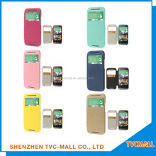 two mobile phones leather case with High Quality,Slim mobile phone leather case,leather phone case For HTC One M8