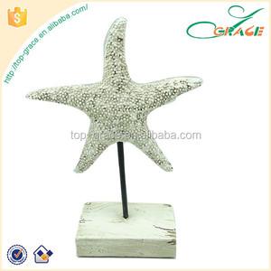 Dekorasyon Süsler Reçine beyaz yapay Denizyıldızı