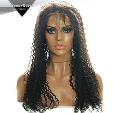 Sunny Queen Hair Top Selling Brazilian Kinky Curly Lace Front Wig, front lace wig for black women, lace front box braid wig