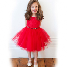 VF197 Fashion lace tutu dresses for girls of 6 years old