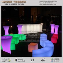 led plastic furnishings / furniture with led