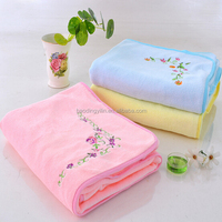 polyester+polyamide dyed absorbent microfiber embroidery towel