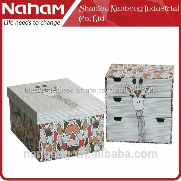 Naham 2 pcs office papelaria armazenamento gaveta do armário& caixa de dobrar papel