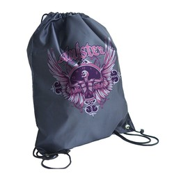 Cheap Custom Waterproof Nylon Soccer Drawstring Bag With Front Zipper Pocket