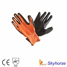 13G Nitrile Palm Coated Chemical Gloves For Buying From China