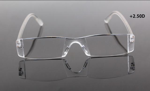 Оправы ясно без оправы, чтение очки дело сумка Пресбиопия 2,5 диоптрий