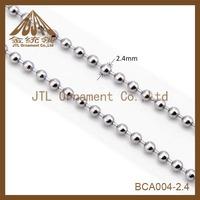 Nice metal high quality 2.4mm dog tag ball chain
