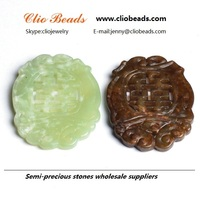 The traditional Chinese style / Dyed New Jade Carved Pendants, Mixed Color