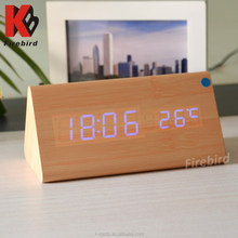 wholesale electronic gift items simple popular wood clock for resale
