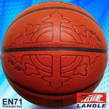 High quality 12 panles PU basketball children pu leather basketball