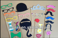 Paper Fake moustache and False lips ,false beard for Party and wedding Supply
