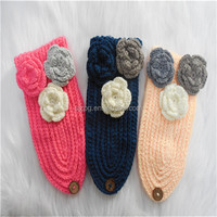 Wholesale 2015 latest handmade knit crochet flower headband, crochet headband