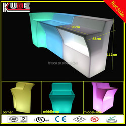 Modern Remote Conotrl LED Furniture Light Glowing Bar Table/illuminated LED Bar Counter For Event
