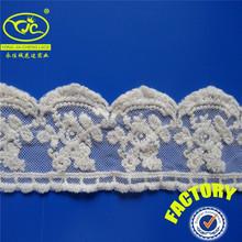 White cotton material Bengal mesh lace macrame textiles(YJC498-1)