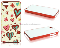 Mobile Phone Accessories sublimation metallic phone cover case for IP5S( I-phone5/5S)