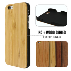 New Coming Plain Wooden Polycarbonate Case For iphone 6S